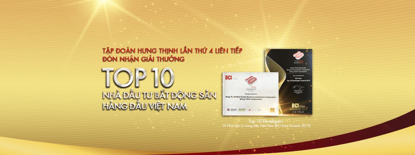 Hưng Thịnh Corp đạt top 10 nhà đầu tư bất động sản Việt Nam