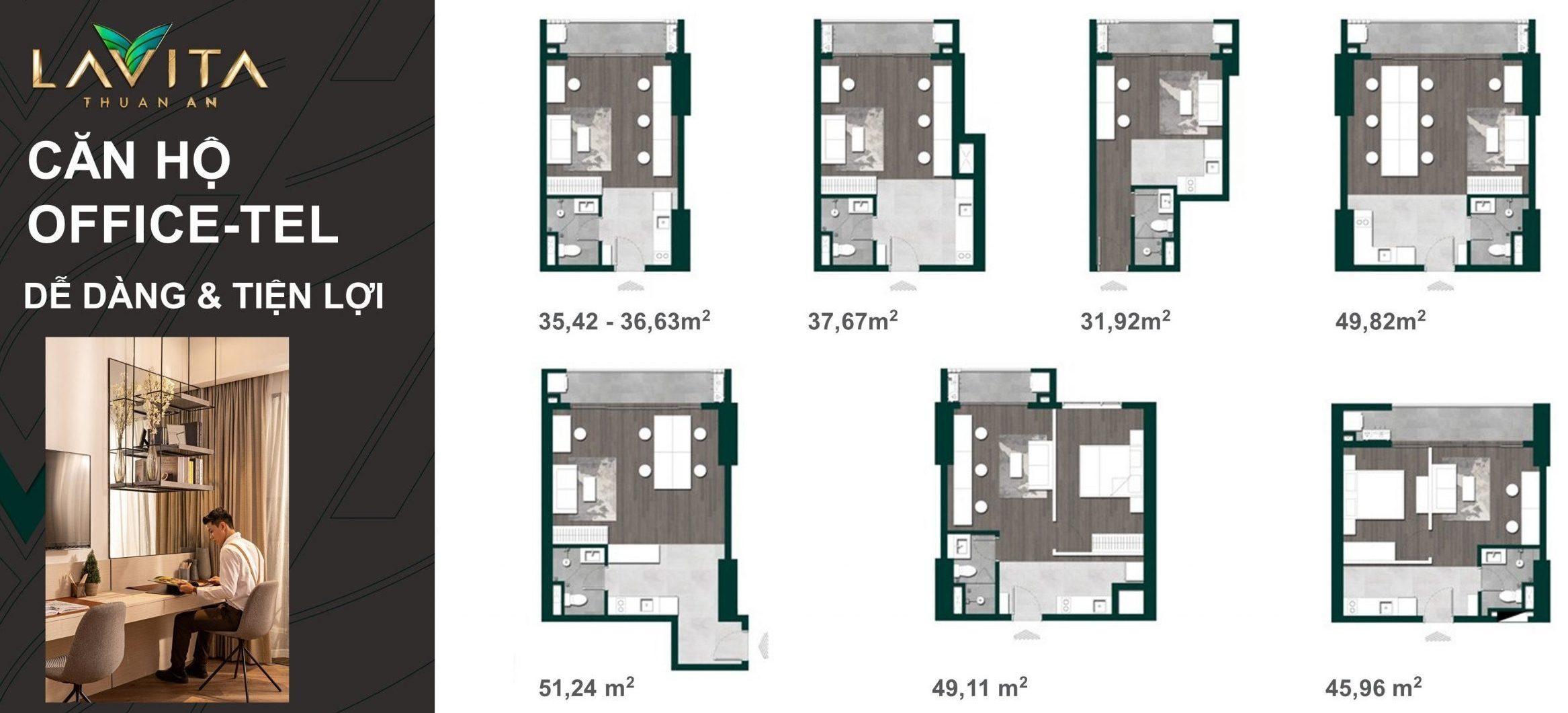 thiết kế mẫu căn hộ lavita thuận an