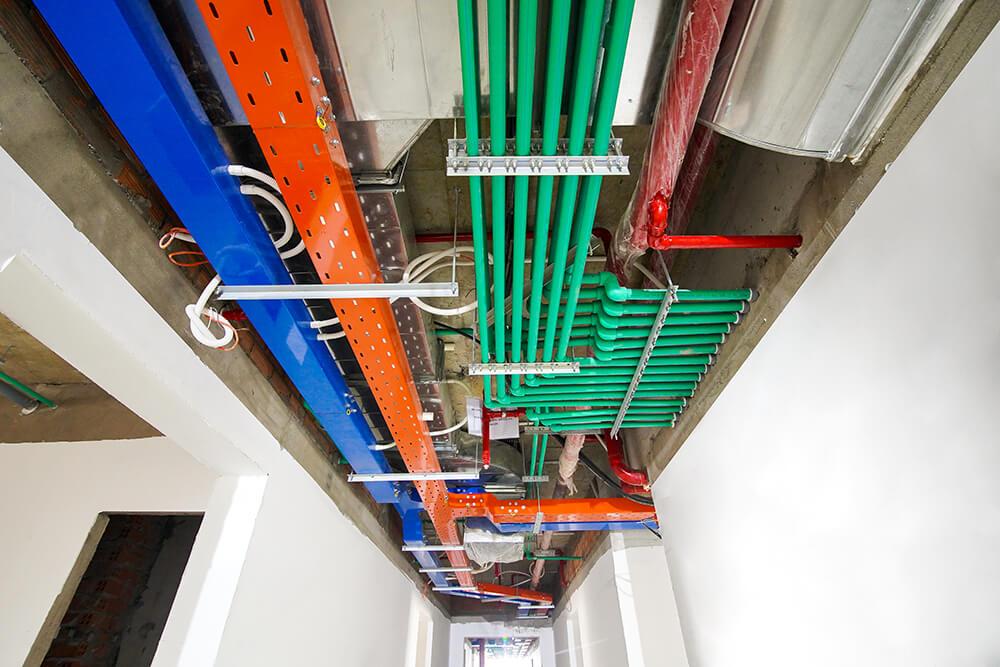 Thi công hệ thống M&E hành lang từ tầng 5 đến tầng 25 Block Saturn và Block Venus