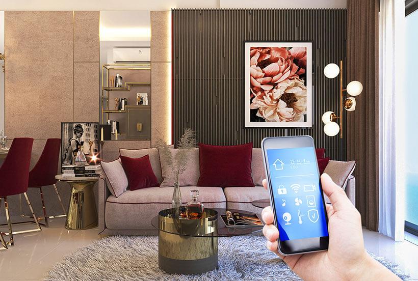 smarthome tại căn hộ Grand Center Quy Nhon