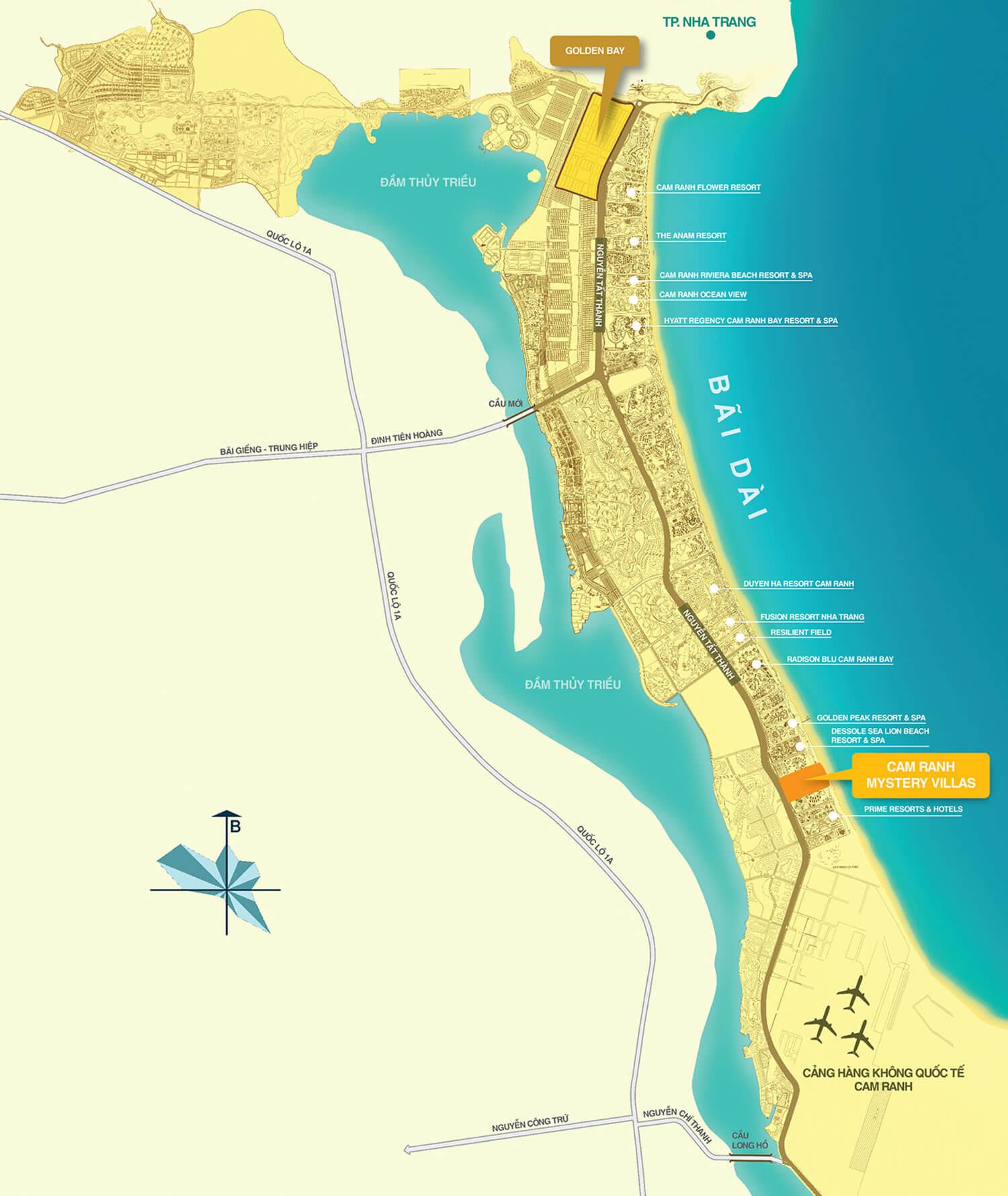 vị trí dự án Cam Ranh Mystery Villas